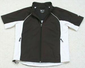 Adidas Athletic Jacket ClimaliteProof Size Small Polyester Coat Gym Black White