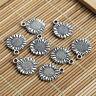 10~30pcs Tibet Silver Sunflower Charms Pendant Beads Jewelry Making DIY 15*12mm