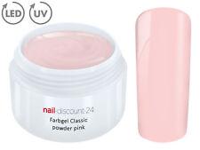Color UV Gel LED FARBGEL POWDER PINK French Modellage Nail Art Design Nagel Rosa