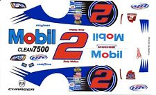 #2 Rusty Wallace Mobil 2005 1/64th HO Scale Slot Car Waterslide Decals