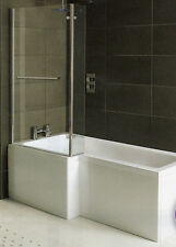 Whirlpool Shower Bath  L Shaped Left Hand 'MATRIX' 1700mm with 10 Jets