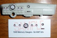 1949 MERCURY COUPE GAUGE FACES for 1/25 scale AMT KITS