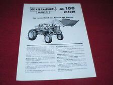 International Harvester Wagner No.100 for 140 Tractor Dealer's Brochure