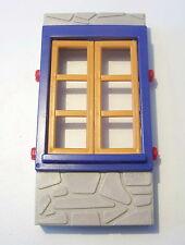 PLAYMOBIL (B1124) WESTERN - Mur en Pierres avec Fenêtre Fort SystemX 3023