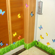 Herbe Papillon Wall Stickers bordures mural adhésif autocollant Papier Mural Décor