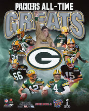GREEN BAY PACKERS All-Time Greats Glossy 8x10 Photo Starr White Lombardi Poster