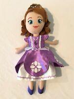 "Disney Jakks Frozen Plush Princess Anna 11"" Plush Stuffed Doll Toy Purple Dress"