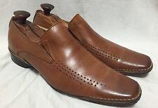 Steve Madden Grail Men's 9 Venetian Loafers Shoes Fashion Chestnut Tan Leather