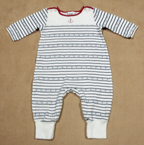 TOMMY HILFIGER INFANT 3-6M OUTFIT NAUTICAL NAVY STRIPES ANCHORS 3M 6M