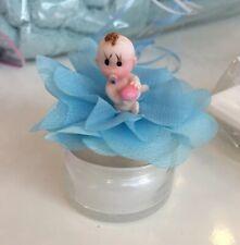 Taufmandeln Gastgeschenke zur Geburt Taufe Junge hellblau GG0014