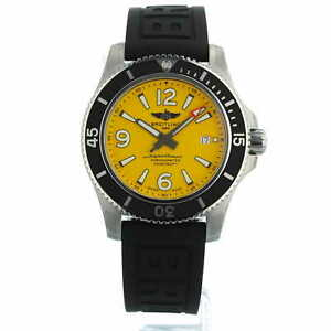 Breitling Superocean Automatic 44 A17367 Yellow Dial Box Papers Unworn 2021