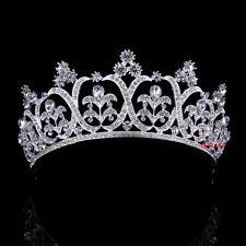 Luxus 5.5cm hoch Blume Hochzeit Braut Haarschmuck Haarreif Krone Diademe Tiara