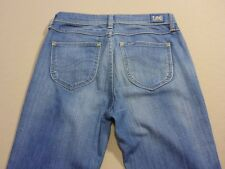 037 WOMENS EX-COND LEE HIGH TUBE MID BLUE WASH STRETCH JEANS 10 $140 RRP.