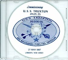 USS Truxtun DLGN 35 Commissioning Program 1967 on CD Navy Plank Owners