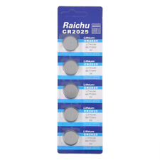 5pcs/set Cr2025 3v Alkaline Button Battery Cell Coin Game Calculator Batteries