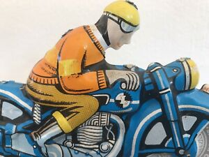 Tinplate Toy Motorcycle And Rider