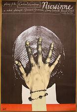 L'INNOCENTE Innocent * Orig. 1977 Polish Poster VISCONTI * Giannini * KLIMOWSKI