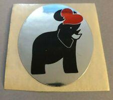RARE Vintage Sticker Metallic Foil ~ Elephant Heart
