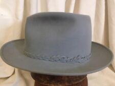 Vintage Stetson Fifteen 3X Beaver Suede Finish Light Gray Fur Felt Fedora  Hat 7 0a97d8930f24