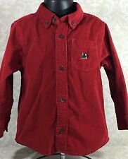 Gymboree Boys 3T Red Long Sleeve Shirt Train North Pole Express Collection