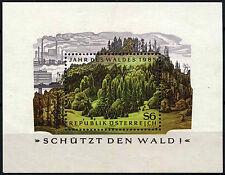 Austria 1985 sg#ms2059 anno delle Foreste Gomma integra, non linguellato M/S #d40307