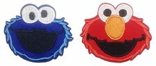 "Sesame Street Elmo and Cookie Monster 2 1/2"" Wide Iron On Patch Set of 2 Patches"