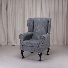 Westoe Wing Back Fireside Armchair Como Charcoal Fabric