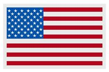 """American Flag Large Reflective Window Decal Sticker 4"""" tall X 6"""" wide"""