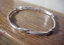 AURIFIN TURKEY 14K White Gold HUGS & KISSES Bracelet 14 inch