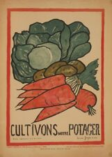 Cultivate our Gardens. Vintage French WW1 Propaganda Poster