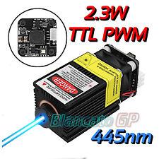 Modulo laser industriale per incisione 445nm 2.3W con modulazione PWM TTL fuoco