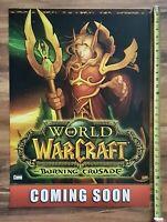 Blizzard WORLD OF WARCRAFT Burning Crusade Video Game Store Display Sign 20x28