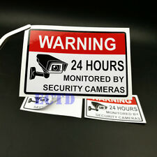 Alarm Surveillance Security Camera Video CCTV Sticker Warning Signs PVC 2PCS