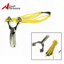 Outdoor Powerful 4 Rubber Band Catapult Slingshot Sling Shot Hunting Games Tools