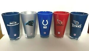 NFL 20oz  Insulated Acrylic Tumbler Glass Cup - PICK YOUR TEAM