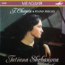 CD TATIANA SHEBANOVA - Chopin, piano pieces, Melodiya