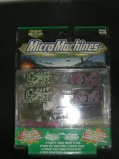VINTAGE 1999 Micro Machines MILITARY A-FORCE V COBRA TANKS TURRET ATTACK MOC