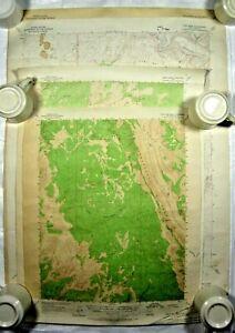 Lot of 4 Vintage Utah USGS Topographic Maps ~ 1953, 1964, 1968