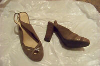womens old navy brown suede leather slingback heels shoes size 9