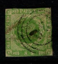 Denmark 1854 8 skilling green Sg12 Used See note