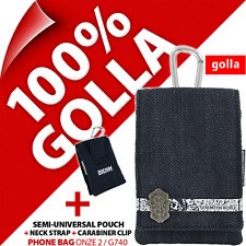 NUOVO Golla Blu Denim Telefono Custodia Cover POUCH BAG + LACCETTO DA COLLO PER IPHONE 3gs 4 4s