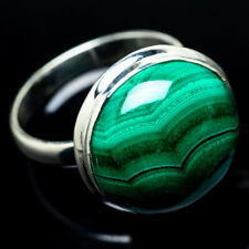 Large Malachite 925 Sterling Silver Ring Size 10.75 Ana Co Jewelry R24277F