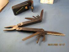 Leatherman Super Tool Multi-Tool, Black Oxide w/ Black leather Sheath vg cond