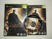 Batman Begins (Microsoft Xbox, 2005) COMPLETE w/ Manual