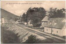 Mt. Major Station and Lake Shore Club in Alton Bay NH Postcard