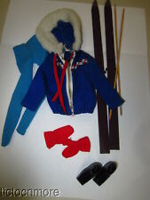 VINTAGE BARBIE DOLL FASHION CLOTHES #948 SKI QUEEN ALMOST COMPLETE SKIING SET