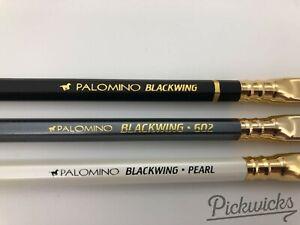 3 Rare Pencils - Retired Palomino Blackwing Original, Pearl, 602 w/ Horse Logo