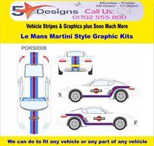 PORSCHE Caymen S 2005-12 Le Mans Martini Race Rally Logo Graphics Kit 6