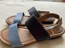 Women's Clarks Artisan Blue Leather Sandals Size Uk 7 E