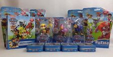 Nickelodeon Paw Patrol Action Pack Badge Rubble Skye Chase Figure Puzzle Set Lot